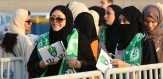 المشجعات السعوديات أول مباراة في التاريخ يحضر فيها الجنس اللطيف بشكل رسمي