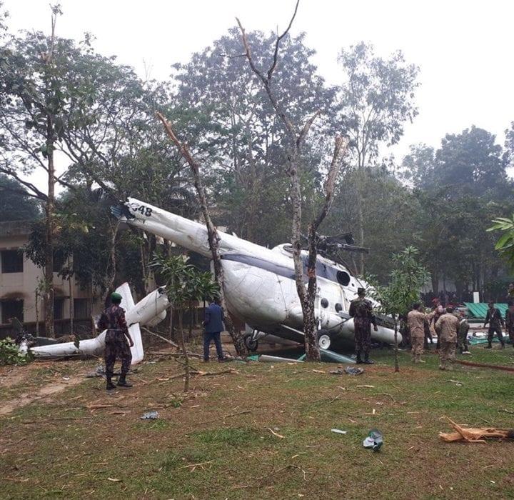 نجاة رئيس الأركان الكويتي من حادث تحطم طائرته في بنجلاديش