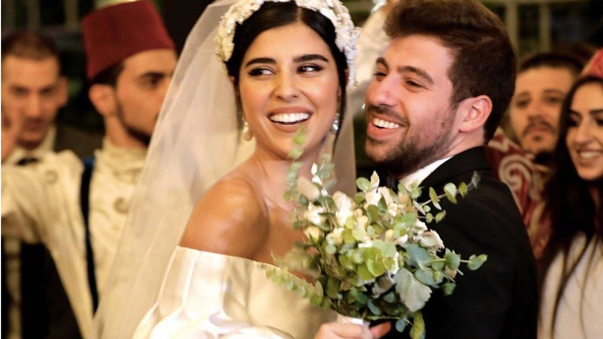 شاهد.. زينة مكي ونبيل خوري يختفلان بزفافهما