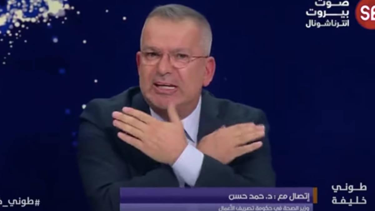 """شاهد.. مشادة بين طوني خليفة ووزير الصحة اللبنانية: """"ريحونا من انجازاتكم"""""""